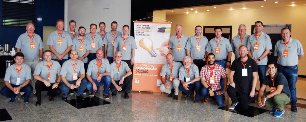 Participantes do 1º Workshop de Inovação Unium.